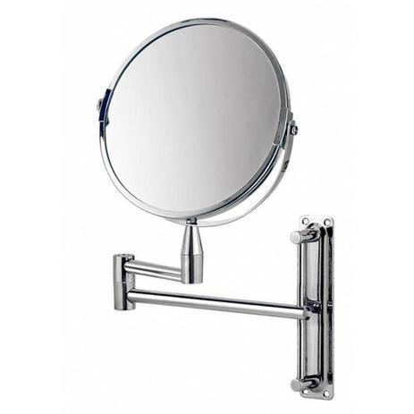 Imagem de Espelho de Aumento Mor Dupla Face Classic Articulado Cromado