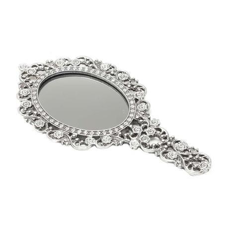 Imagem de Espelho De Mão Com Moldura De Zamac Com Fundo Espelhado Secret  - F9-25262