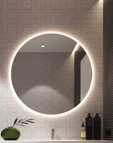 Imagem de Espelho Redondo ( Grande ) Decoração Luz de LED