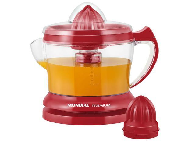 Espremedor de Frutas Mondial Red Premium E-23 - 30W 1,25L Vermelho - 110V