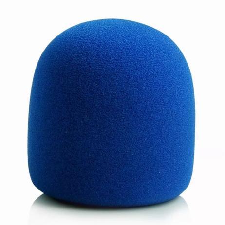 Imagem de Espuma para Microfone de Mão SM58 Preto Azul Vermelho Amarelo Laranja Diversas Cores