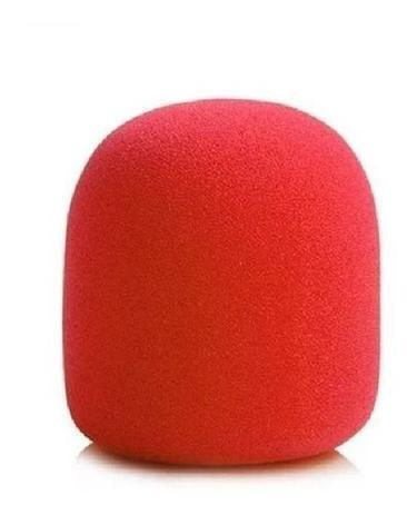 Imagem de Espuma Para Microfone De Mão Sm58 Vermelha