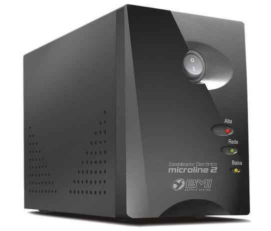 Imagem de Estabilizador BMI Microline 2 - 1000VA (1000 Watts) 220V/220V Modelo ML2-100022