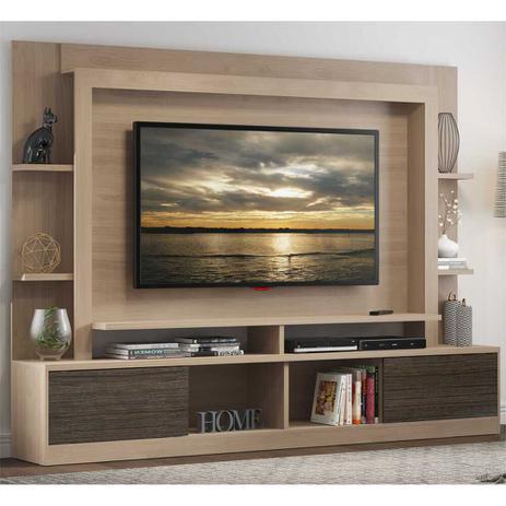 Menor preço em Estante Home Theater Moscou Multimóveis para TV 65 Polegadas com Nicho - Carvalle/ Tenerife