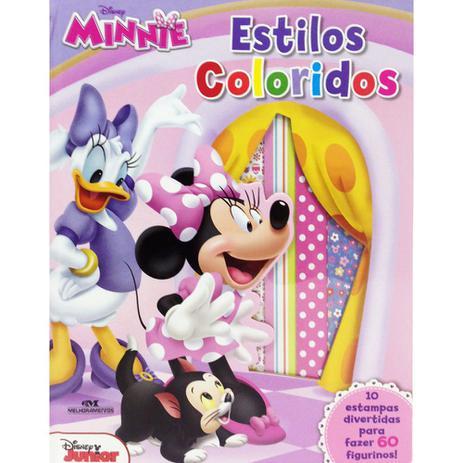 estilos coloridos minnie mouse disney melhoramentos