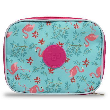 Imagem de Estojo 100 Pens Escolar Grande Flamingos Necessaire