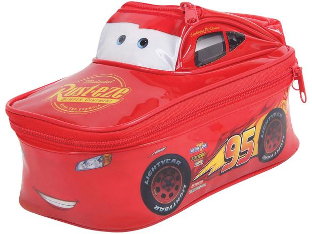 Estojo Escolar Carros Disney Pixar Soft Duplo 3D - Dermiwil