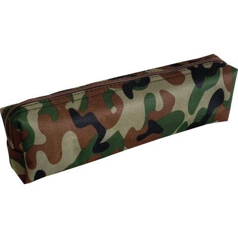 Imagem de Estojo Tecido Quadrado Pq 1ziper Camuflado Kit Unidade