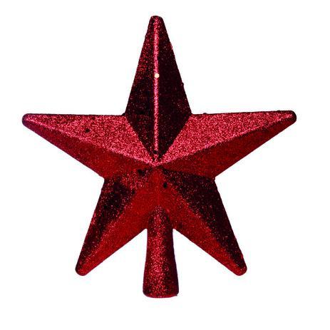 Estrela árvore De Natal C1 Pçs 20cm Vermelha Cromus Estrela De