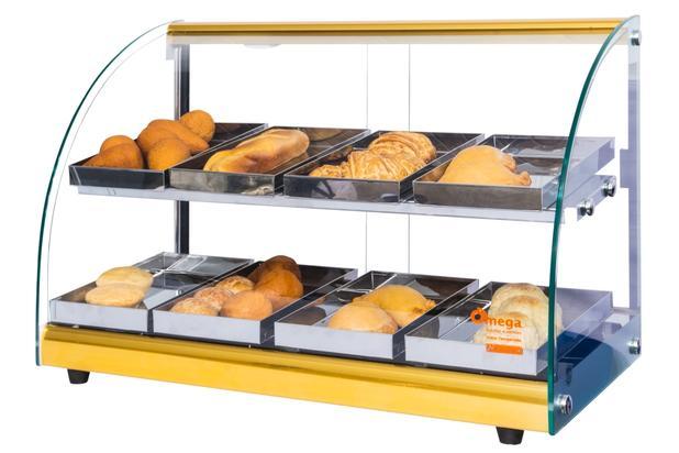 d90242a9929 Estufa Alfa Luxo para salgados dupla de 8 bandejas Dourado Omega - Bcd  industria