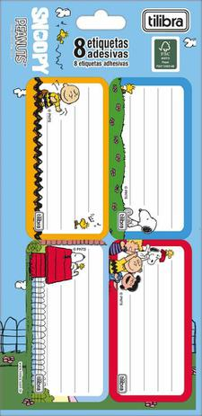 Imagem de Etiqueta Escolar Adesiva Snoopy Unidades Tilibra