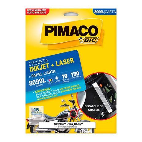 Imagem de Etiqueta Pimaco InkJet+Laser Branca Carta 8099L