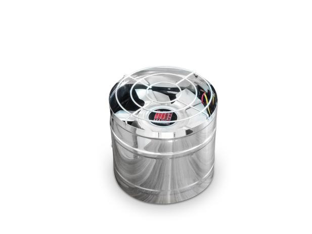 Imagem de Exaustor 20cm Inox Alta Vazão Para Churrasqueiras Coifas Bivolt Com Motor Blindado Alta Temperatura