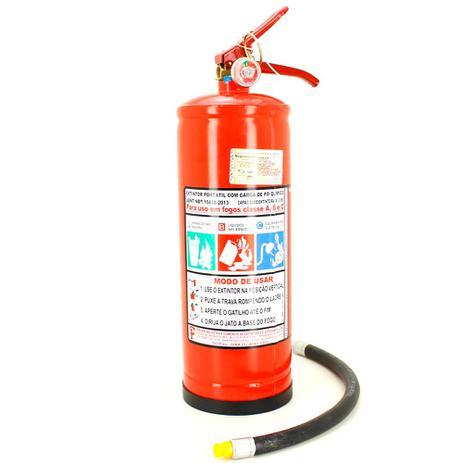 ef7f5bdbbfa84 Extintor de Incêndio Pó Químico ABC 8kg - Classe ABC + 1 Placa Sinalizadora  - Resil