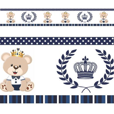 4bb626df7 Faixa Border Urso Principe Modelo 04 - Mundo dos adesivos - Adesivo ...
