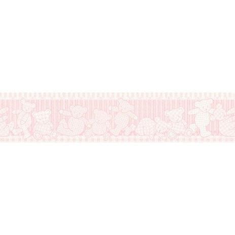 63d62f11d Faixa Decorativa Para Quarto de Bebê Ursinhos Rosa Infantário Bobinex 1906  - 10 mts