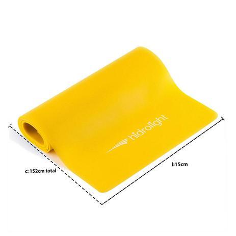 ab251c2f29 Faixa Elástica para Exercícios Malhar Pilates Látex Amarela Média Hidrolight