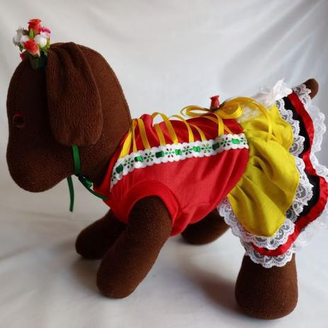Imagem de Fantasia Alemã Frida para cachorro e gato Ninelai