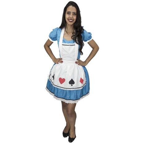 8bad15969 Fantasia Alice No País Das Maravilhas Adulto Feminina Com Avental -  Fantasias carol kb