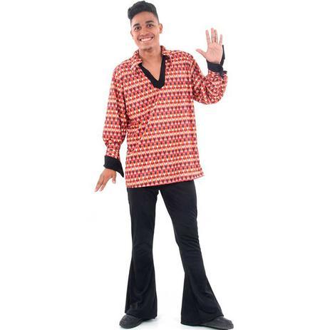 Fantasia Anos 70 Masculino Adulto Disco 70s Discoteca Anos 70 Sulamericana