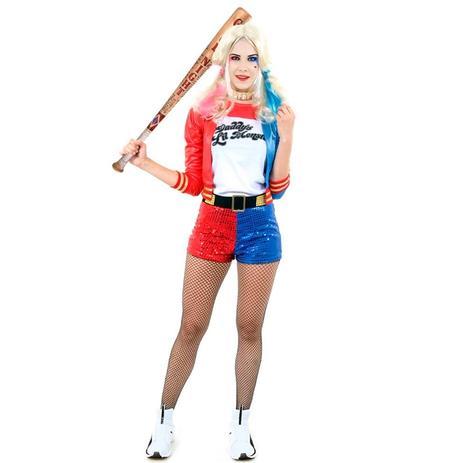 Fantasia Arlequina Harley Quinn Adulto Feminina Esquadrão Suicida -  Sulamericana cd92848c35