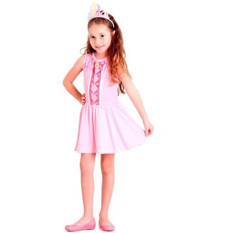 2290ad79b7 Fantasia Barbie Bailarina Infantil Com Coroa Sulamericana - Fantasia ...