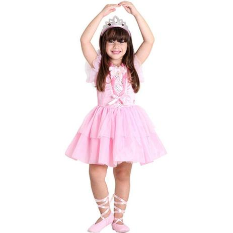 fa714cfa01 Fantasia Barbie Quero Ser Bailarina Luxo G - Sulamericana - Fantasia ...