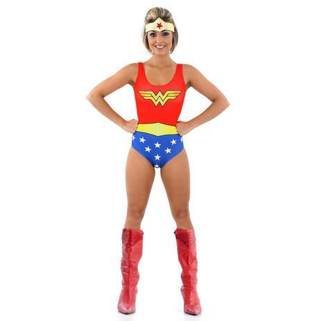 2d0d4b8b0 Fantasia Body Mulher Maravilha Adulto - Liga da justiça - Fantasias ...