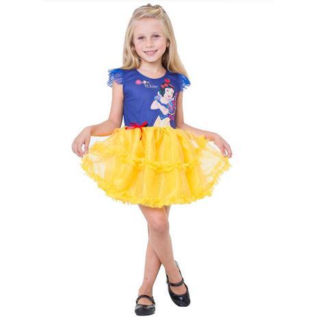 c0a60a27aa9bd Fantasia Branca de Neve Infantil Pop Princesa Disney - Rubies ...
