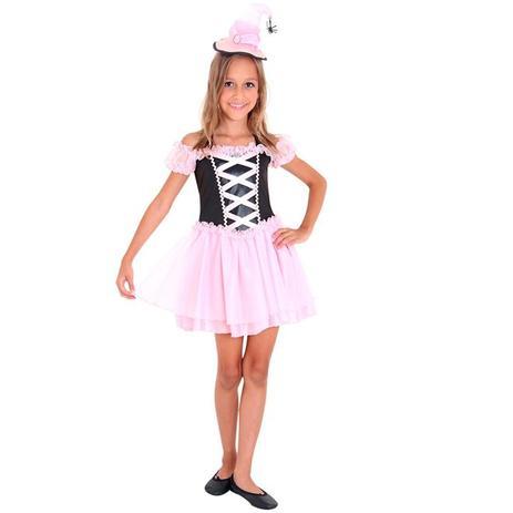 b37b2e00ec Fantasia Bruxa do Bem Infantil Halloween Com Chapéu - Sulamericana ...
