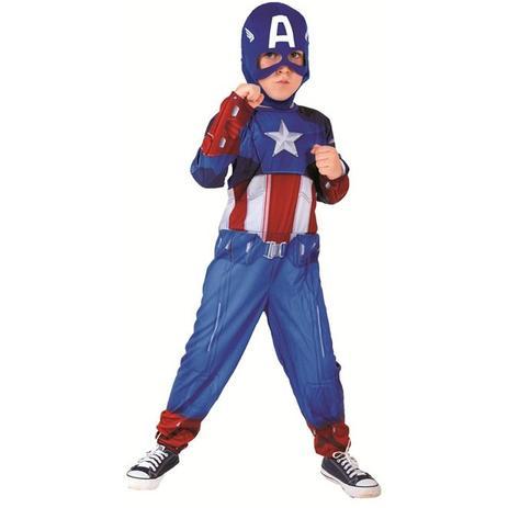 1dd43cb52f3 Fantasia Capitão America 1 Infantil Longa Rubies Com Máscara ...