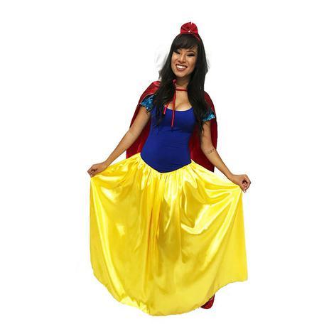 Fantasia Cosplay Princesa Branca De Neve Luxo Adulto Feminina