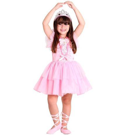 2ac3b3ad38 Fantasia da Barbie Quero ser Bailarina de Luxo Com Sapatilha - Sulamericana