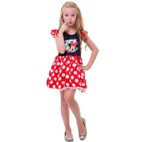d80a419e1dff39 Fantasia da Minnie Vermelha Infantil Mickey Mouse Original Disney - Rubies
