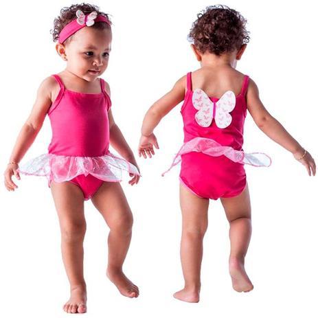 b0c4b41044392a Fantasia de Borboleta Pink Para Bebê Com Faixa 3 a 18 meses - Fantasias  carol fsp