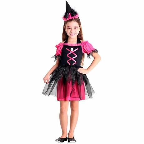 5a679c6cb1 Fantasia de Bruxa Infantil Doces Ou Travessuras - Sulamericana ...