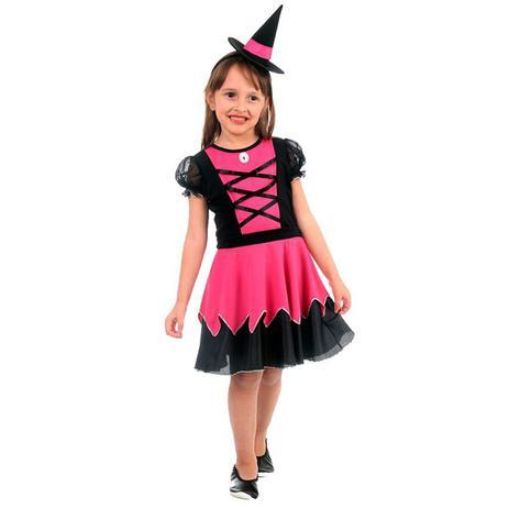 908962b4f6 Fantasia de Bruxa Lila Com Chapéu Halloween Infantil - Sulamericana ...