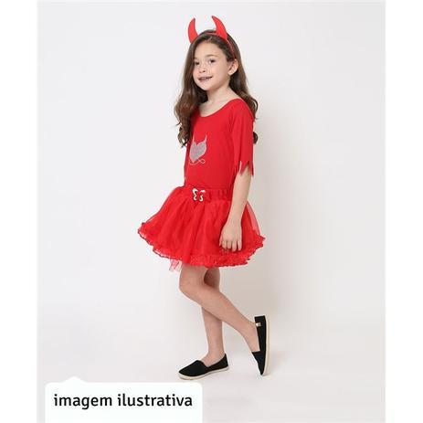 2e8c547ffc3d2a Fantasia de Diabinha Vermelha Com Chifre Halloween Infantil - Fantasias  carol kb