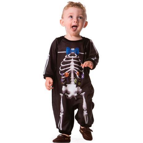 c17533bcd455aa Fantasia De Esqueleto Bebe Menino Pra Halloween 3 a 18 meses - Fantasias  carol fsp