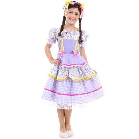 9bfe675e1 Fantasia De Festa Junina Infantil Vestido Caipira Com Tiara - Sulamericana