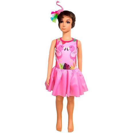 Fantasia De Flamingo Infantil Com Tiara Fantasias Carol Fsp Fantasias Para Criancas Magazine Luiza