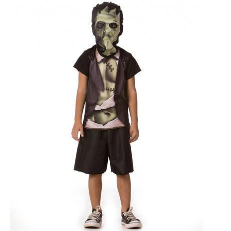 7349972daf Fantasia de Frankenstein Infantil Masculina Halloween Com Mascara - Fantasias  carol fsp