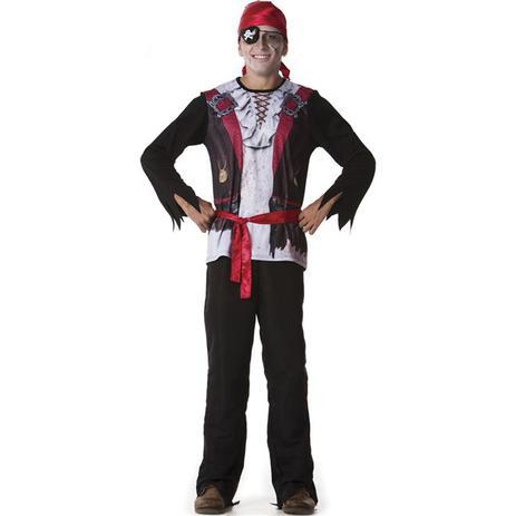 Fantasia de Halloween Pirata Zumbi Adulto Masculino Com Tapa olho -  Fantasias carol fsp 6454ba9917e