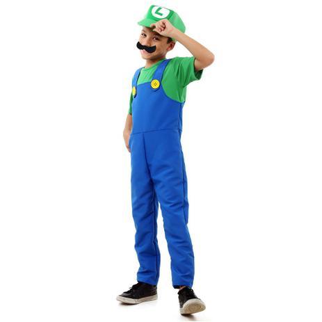 Fantasia De Luxo - Super Mario Bros - Luigi - Sulamericana ... d12d592692a