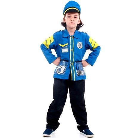 Fantasia de Policial Infantil Com Quepe e Acessórios - Sulamericana ... a677b4f6846