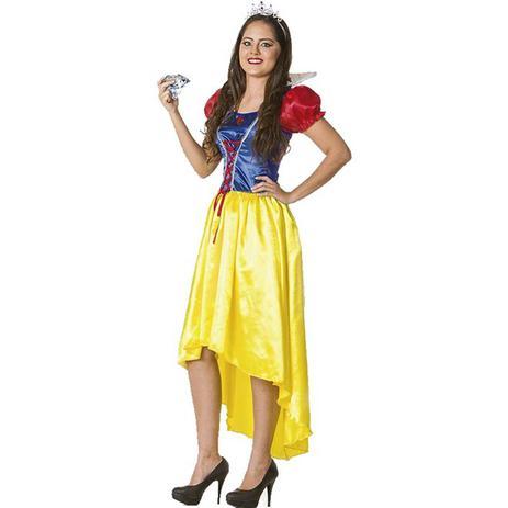 fe90925155 Menor preço em Fantasia de Princesa Branca de Neve Adulto Feminina Com Coroa  - Fantasias carol