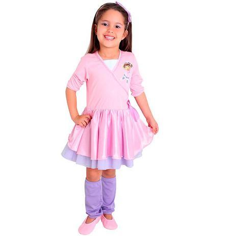 14b3d7c2c8 Fantasia Dora Aventureira Infantil Bailarina Completa Com Sapatilha -  Sulamericana