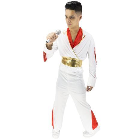 6a522ce3c Fantasia Elvis Presley Adulto de Luxo Com Faixa - Fantasias carol ch