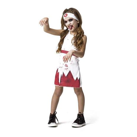 Fantasia Enfermeira Zumbi Infantil Halloween Com Faixa Fantasias Carol Fsp Fantasias Para Criancas Magazine Luiza