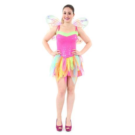 5b0aa18a9 Fantasia Fada Adulto Arco Iris - Carnaval - Fantasias - Magazine Luiza